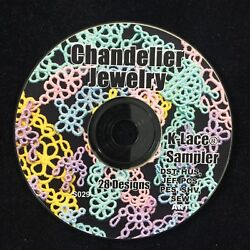 CRISWELL Embroidery Designs Chandelier Jewelry K Lace Sampler Multi fotmat CD $12.95