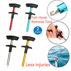2Pcs Easy Fish Hook Remover Portable Extractor Tackles Detacher Puller T-Handle $11.39