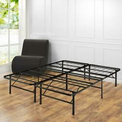 14 in. Full SmartBase Mattress Foundation Foldable Frame with Easy Assembly $125.95