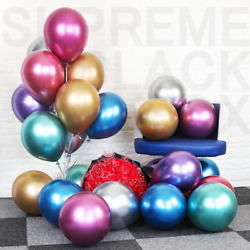 Metallic Balloons Metal Chrome Shiny Latex Happy Birthday Wedding Party Games $7.99