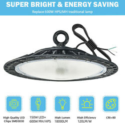 150W UFO LED High Bay Light Factory Industrial Warehouse Commercial Lighting