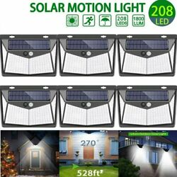 208 LED Waterproof Solar Power PIR Motion Sensor Wall Light Outdoor Garden Lamp $10.69