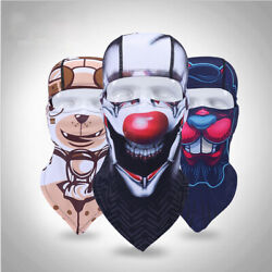 US Balaclava Hand Painted Full Face Mask Cycling Windproof Neck Mask Hats $9.99