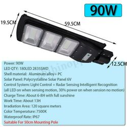 120000LM Commercial Solar Street Light LED Outdoor IP67 Dusk-to-Dawn Road Lamp $69.99