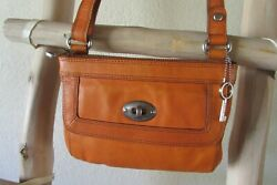 FOSSIL WASHED MELON LEATHER S SLIM MESSENGER CROSS-BODY