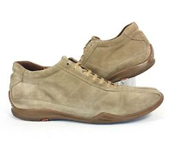 Barneys New York Mens Beige Tan Suede Leather Casual Walking Shoes Size 8.5 Mens $49.99