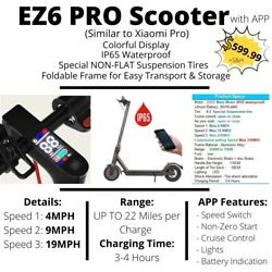 ON SALE NOW! NEW EZ6 PRO (Xiaomi Pro Model) Folding Electric Scooter!! $399.99
