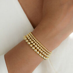 Gold Filled Beads Beaded Beaded Stretch Stackable Bohe Women Bracelets 4 5 6 8mm $4.99