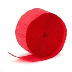 Dollar Daze Plus Party Crepe Streamers RED 2 PK $7.99