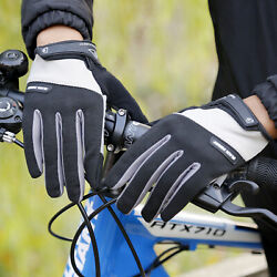 US Men Women Cycling Gloves Full Finger Touch Screen Motorcycle Workout Glove $12.96