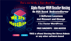 Alpha Master WHM Reseller Hosting on USA Dedicated Servers $3.99