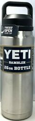 Yeti Rambler 26oz Bottle Stainless Steel With Chug Cap [4COLOR]  NEW AUTHENTIC $29.99