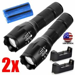 2x 900000LM Tactical LED Flashlight Torch Rechargeable 18650 Batteryamp;Charger US $14.88