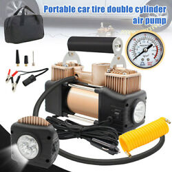 HEAVY DUTY Portable Air Compressor For Car Tire Pump Inflator with LED Light 12V $39.98