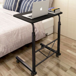 Portable Computer Desk Home Office Laptop PC Table Workstation with 4Wheels Roll $31.99