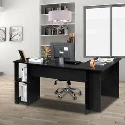 L Shaped Desk Corner Computer Gaming Laptop Table Workstation Save Space Home $124.99