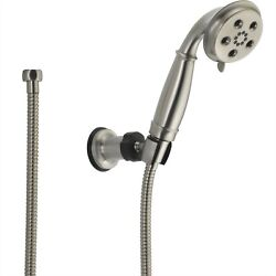 Delta Stainless Steel Finish Wall Mount Handshower Spray with H2Okinetic 604282 $282.96