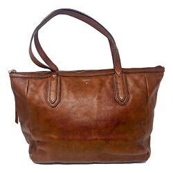 Fossil Sydney Leather Tote Brown $39.99