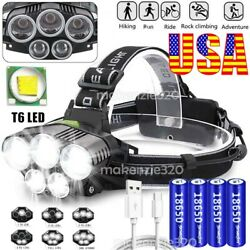 High Power 990000LM LED Headlamp Headlight Torch Rechargeable Flashlight US $12.97
