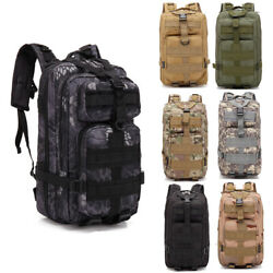 30L Sports Military Rucksacks Tactical Backpack Trekking Hiking 8 Colors Hot $17.99