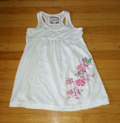 Poof Girl Excellence Girls Beach Cover-up White dress size 7-8 Eyelet $7.99