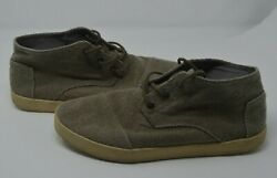 TOMS Lenox Mid Shade Hemp Sneakers Mens Grey High Tops Shoes US Size 10.5 $19.97