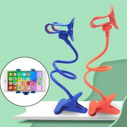Cell Phone Clip on Stand Holder with Grip Flexible Long Arm Gooseneck Bracket $9.99