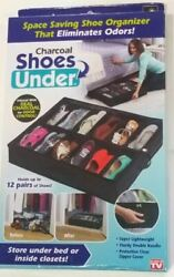 Shoes Under Charcoal Odor Control Underbed Foldable Shoe Organizer $12.99