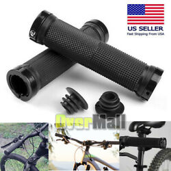 Ergonomic Rubber MTB Mountain Bike Bicycle Handlebar Grips Cycling Lock On Ends $8.95