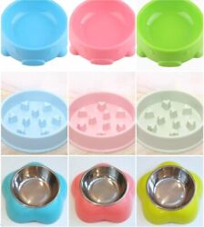 BUY 2 GET 1 Any 3rd FREE READ IN DESCRIPTION Dog Cat Pet Slow Feeder Water Bowl $7.55
