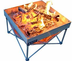Fireside Industries Pop-Up Fire Pit and Heat Shield Combo