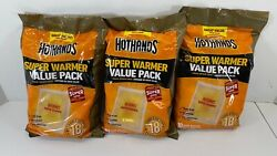 LARGE HotHands Body & Hand Super Warmers Value Pack 18 LOT OF 3 New $14.36
