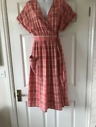 New Next Checked Wrap Over Summer Dress Size 10  bnwt  £35.00   $12.50