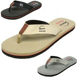 Alpine Swiss Mens Flip Flops Beach Sandals Lightweight EVA Sole Comfort Thongs $10.31