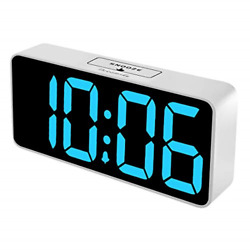 DreamSky 8.9 Inches Large Digital Alarm Clock with USB Charging Port Fully Desk $29.28
