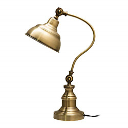 Brass Desk Lamp Adjustable Table Lamp Vintage Task Lamp with Rotary Shade $67.95