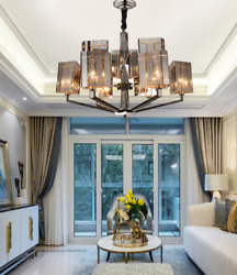 Modern 6 Lights Crystal Chandelier Light Luxury Creative Ceiling Lamp Decorative $152.99