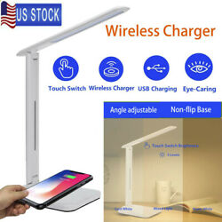 3 Modes LED USB Charge Table Desk Lamp Wireless Phone Charger Reading Home Light $18.88