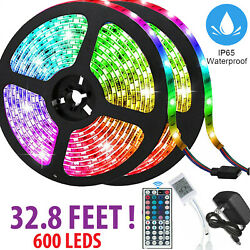 32FT Flexible 3528 RGB LED SMD Strip Light Remote Fairy Lights Room TV Party Bar $19.99