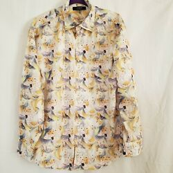 AXIS LA Mens Button Front Long Sleeve Shirt XL Cream, Blue, Red Paisley Design. $14.99