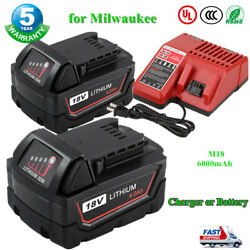 Replace For Milwaukee M18 18Volt Lithium-Ion 6.0Ah 48-11-1850 Battery or Charger $26.69