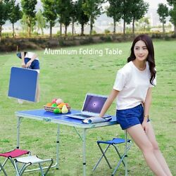 Aluminum Folding Table Portable Indoor Outdoor Picnic Party Camping Desk $35.99