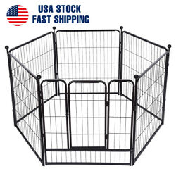 Dog Pet Playpen Heavy Duty Metal Exercise Fence Folding Kennel 6 Panel 31