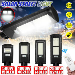 500-2500W Solar Power LED Street Light PIR Motion Home Garden Security Wall  $37.99