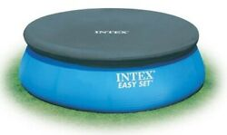 Intex 8 Foot Easy Set Above Ground Swimming Pool Debris Vinyl Round Cover Tarp $29.99