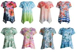 Time and Tru Women#x27;s Short Sleeve Dolman Sublimation T Shirt $9.79