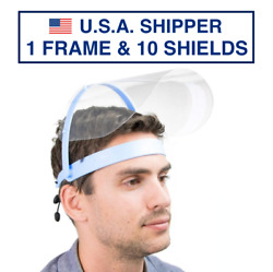 Safety Full Face Shield Clear Flip-Up Visor 1 Pack 10 SHIELDS Mask Cover Medical $12.49