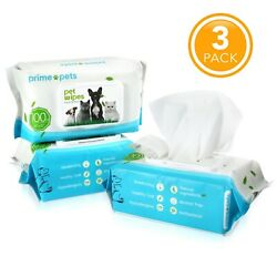 Dog Grooming Wipes Deodorizing Hypoallergenic for Pet Dogs Cat Cleaning Dry Bath $18.99
