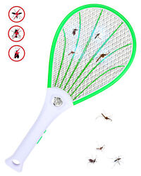 Mosquito Swatter USB LED Electric Flies Insect Killer Bug Zapper Racket  New $13.99