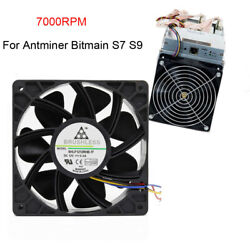Replacement 6000 7500RPM Cooling Fan 4 Pin Connector For Antminer Bitmain S7 S9 $16.14